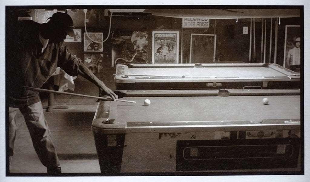 eddie playing pool